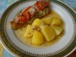 Kotlety s rajčaty a mozarellou