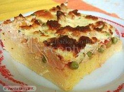 Zapečená polenta se sýrem