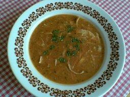 Polévka z vepřových žaludků s kořenovou zeleninou