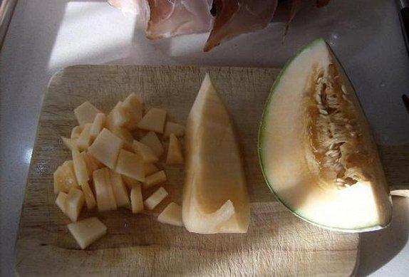 Tagliatelle s melounem podle mé švagrové