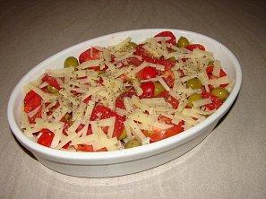 Zapečené kuřecí s rajčaty
