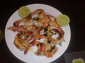 Grilované obří krevety