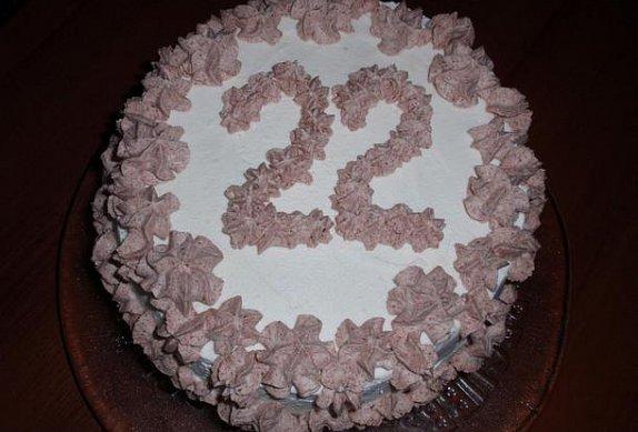 Dvoubarevný roládový pařížský dort photo-0