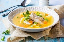 Rybí polévka pro štíhlou linii