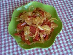 Pikantní syrečkový (tvarůžkový) salát
