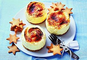 Mini cheesecake jako Créme Brûlée