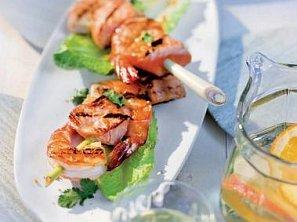 Špíz s mořskými plody po asijsku
