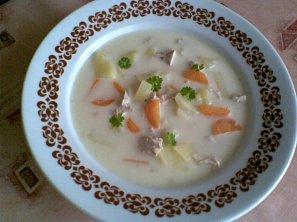 Kuřecí polévka se sýrem