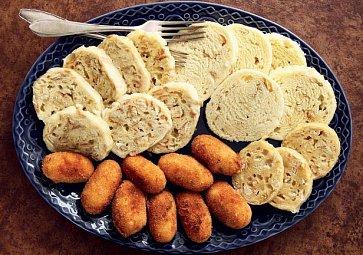 Knedlíky a bramborové krokety