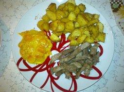 Vepřové maso s mrkvovou kari omáčkou
