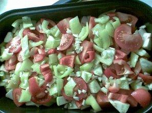 Pečená zelenina na lžíci oleje
