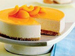 Tvarohový dort s meruňkovým želé