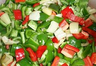 Barevný fazolový salát (lečo) - sterilovaný