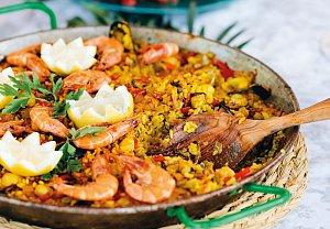 Paella s mořskými plody