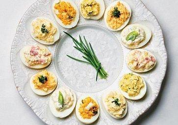 Plněná vejce - ideální zpracování vařených vajíček