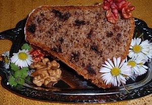 Čokoládovo-ořechová vláčná bábovka / beránek
