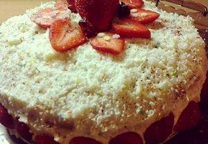 Lehký jemný ovocný dort