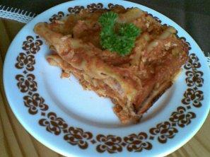 Lasagne s cuketou a slaninou