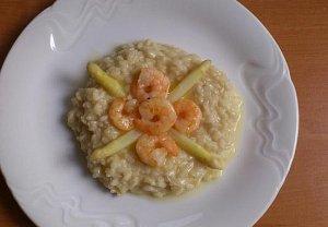 Chřestové rizoto s krevetami
