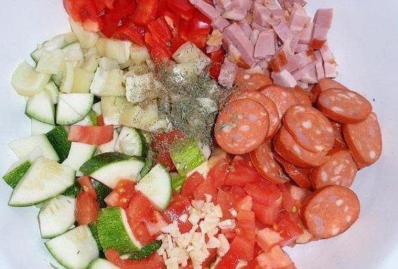 Barevný (nejen) zeleninový pekáček