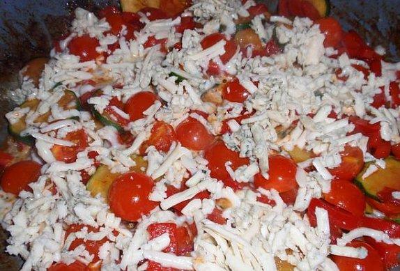 Přírodní plátek se sýrovou zeleninou - minutka