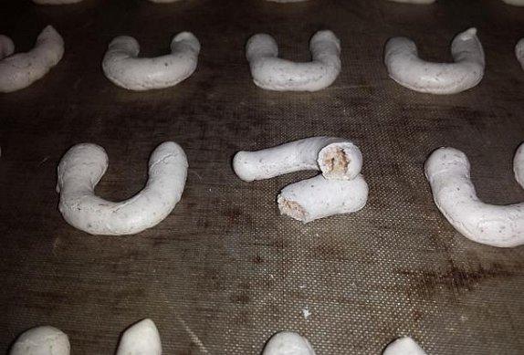 Plněné ořechové rohlíčky