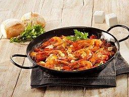 Saganaki s krevetami a sýrem Feta