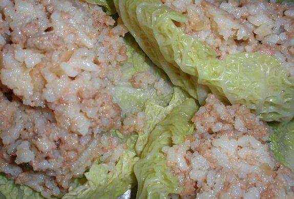 Kapustové měšce na zelenině