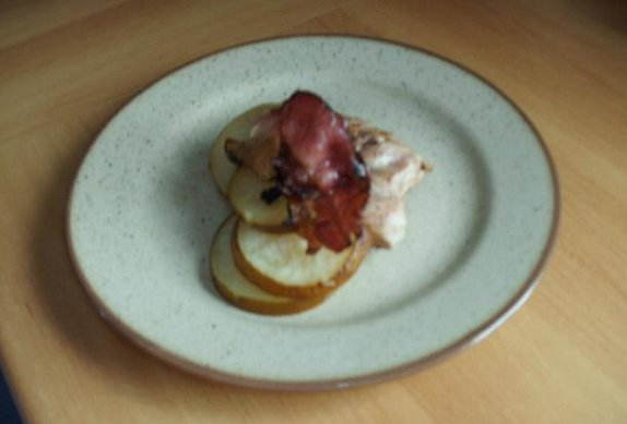 Kuřecí na hruškách a slanině