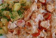 Jogurtové kuřecí (krůtí) řízky - zapékané