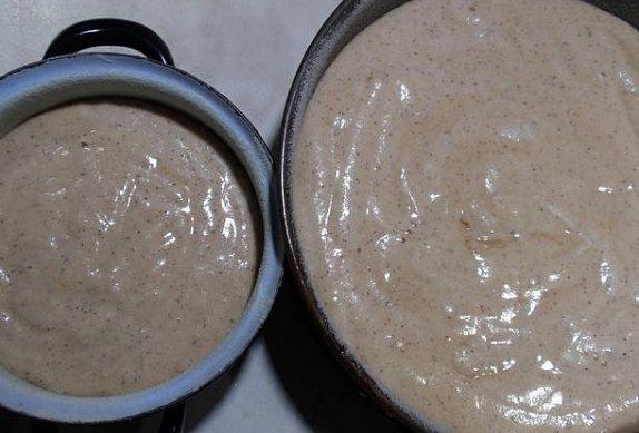 Kávovo-ořechový dort (korpus) - dvoupatrový