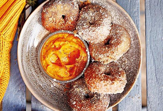 Dýňové donuty s dýňovým máslem