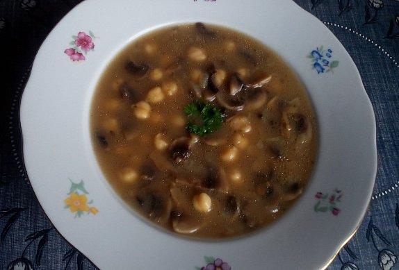 Cizrnovo - houbová polévka