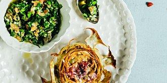 Smažený artyčok se salsou a majonézou