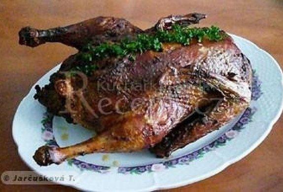 Kachna plněná brambory