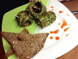 Pikantní špenátové rolky