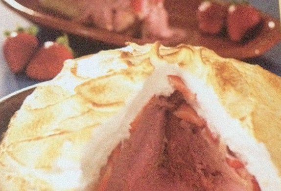Zapečená jahodová zmrzlina