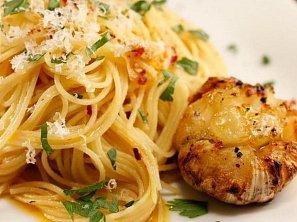 Česnekové špagety