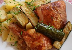 Tandoori kuře s cuketou