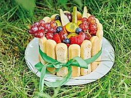 Tvarohová šarlota s ovocem