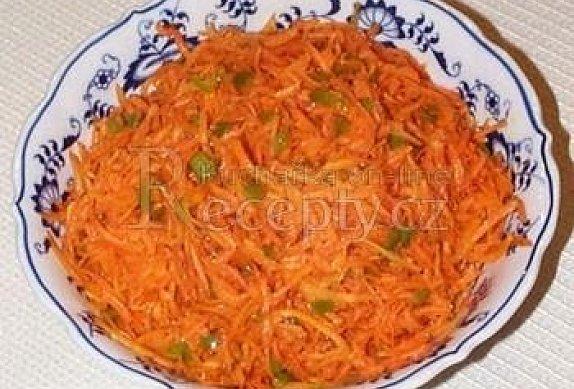 Indický mrkvový salát