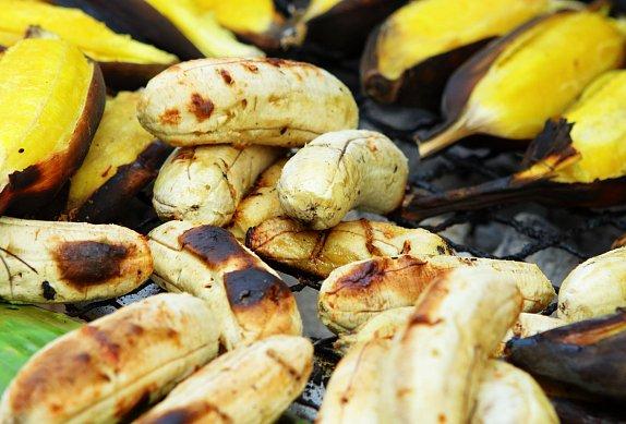 Medový banán na grilu photo-0