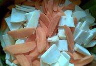 Kapsy s kořenovou zeleninou - minutka