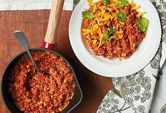 Mexický hrnec s rýží