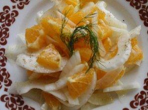 Fenyklový salát s pomerančem