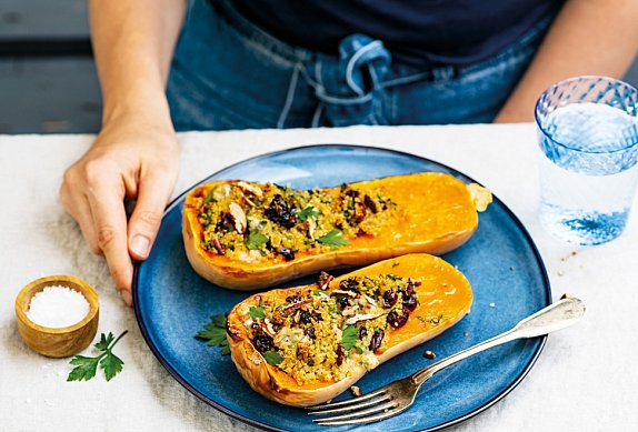 Pečená dýně s quinoou a gorgonzolou