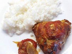 Pečené kuře v kečupovo-hořčičné omáčce