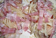 Kuřecí řízky (nejen) se slaninou - zapečené
