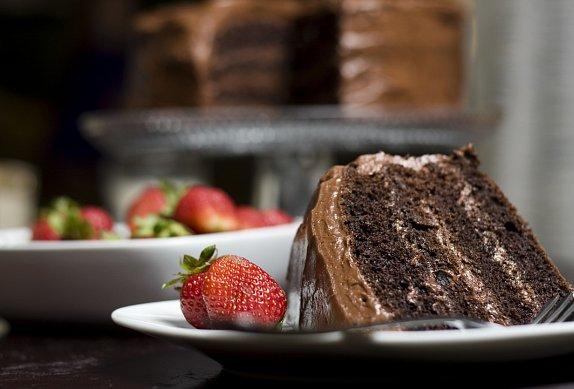 Čokoládový dort podle italského receptu (poctivá porce čokolády)