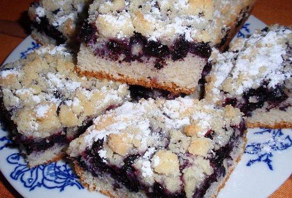 Borůvkový koláč II. - jednoduchý a výborný
